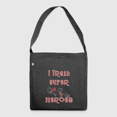 I Train Super Heroes - Teacher - Kindergarten teacher - Shoulder Bag made from recycled material