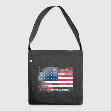 1979-USA-FLAGGE - Schultertasche aus Recycling-Material