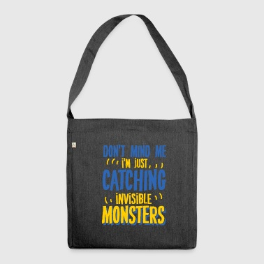 Paranoid Monster invisible paranoid monsters - Shoulder Bag made from recycled material