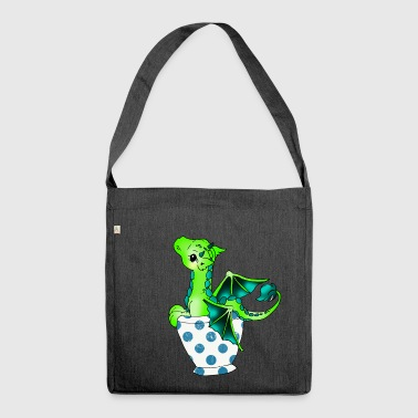 Dragon in the cup Mythical creature - Shoulder Bag made from recycled material