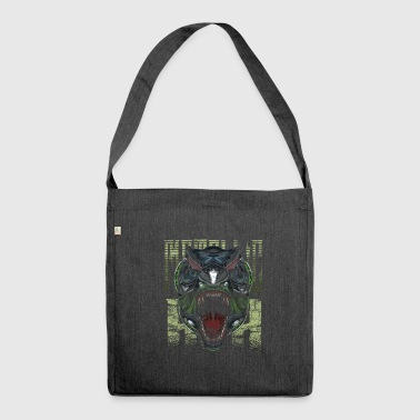 Cyborg Tyrannosaurus Rex Scifi - Shoulder Bag made from recycled material