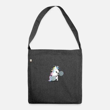 Funny Gym Funny Unicorn Gym - Shoulder Bag made from recycled material