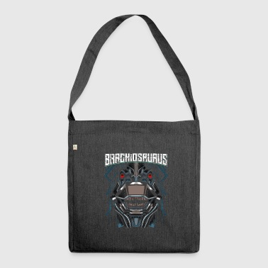 Cyborg Brachiosaurus Dinosaur Scifi - Shoulder Bag made from recycled material