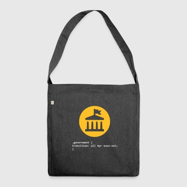 CSS Pun: Government - Shoulder Bag made from recycled material