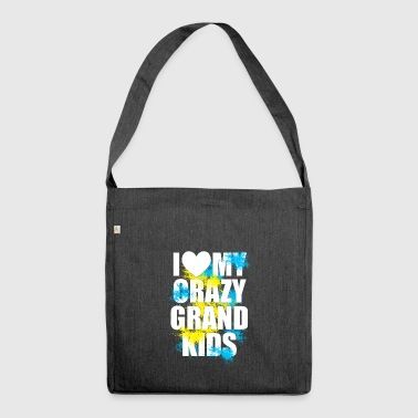 Grand mother / grand kids design - Shoulder Bag made from recycled material