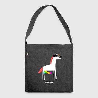 Pornicorn / Funny / Provocative - Shoulder Bag made from recycled material