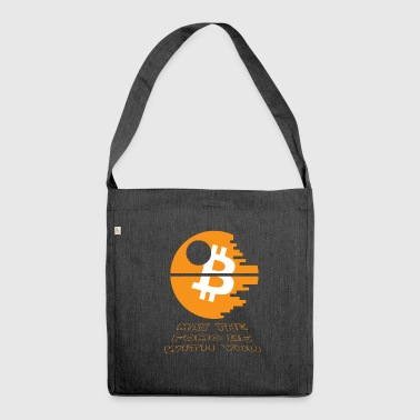 Bitcoin Star and Wars 2018 - Todesstern - Krypto - Schultertasche aus Recycling-Material