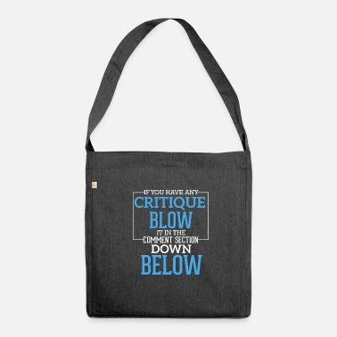Blasen Funny irony sarcasm gift criticism bubbles - Shoulder Bag made from recycled material