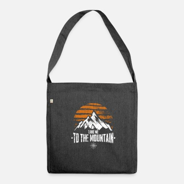 Take Take Me To The Mountain. Vintage - Shoulder Bag made from recycled material