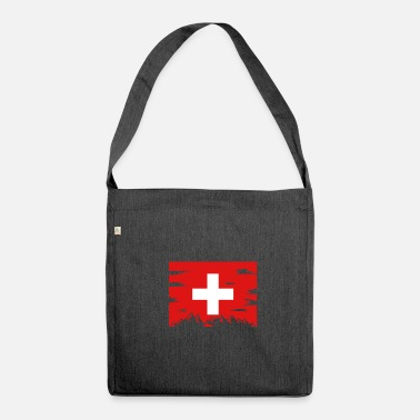 Country Flag Schweiz Country Mountains Landskab Cross Red Top - Skuldertaske af recycling-material