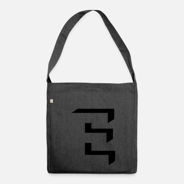 Shaded 'E' shading - Shoulder Bag made from recycled material