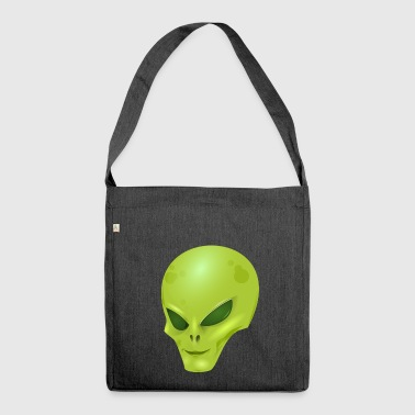 Alien extraterrestrial scifi - Shoulder Bag made from recycled material