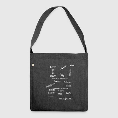 drugs - Shoulder Bag made from recycled material