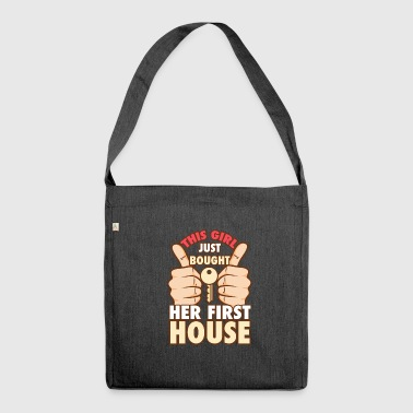 house house house - Schultertasche aus Recycling-Material