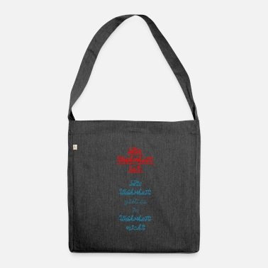 Truth The truth is truth is in truth ... - Shoulder Bag recycled