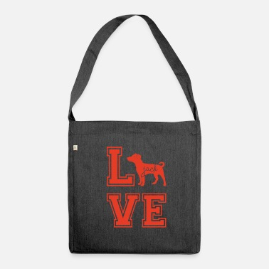 Jack Dog / Jack Russell: Love Jack - Shoulder Bag made from recycled material