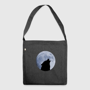 Wolf moon full moon - Shoulder Bag made from recycled material