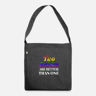 Same-sex Bride LGBT gay shirt same sex - Shoulder Bag made from recycled material