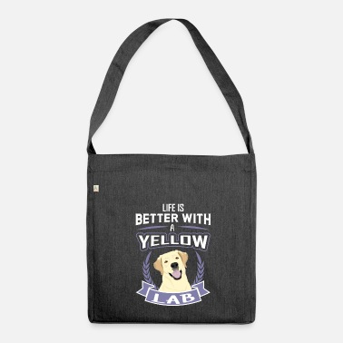 Funny Gym Life is better with a Lab - Labrador Dog Shirt - Shoulder Bag made from recycled material