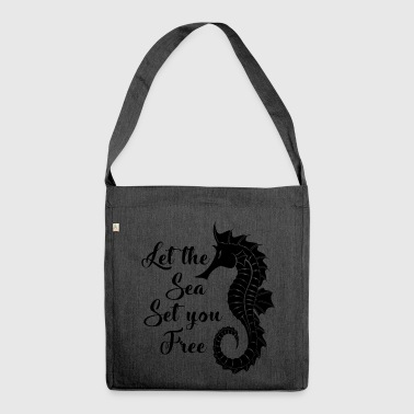 Love the sea. Nautical.Cool Seaside Gifts.Seahorse - Shoulder Bag made from recycled material