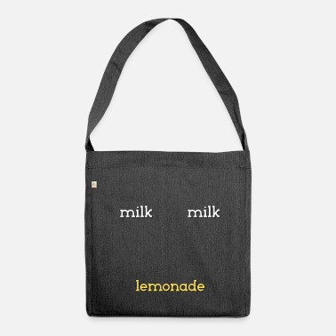 Milk milk milk lemonade milk milk drink lemonade - Shoulder Bag made from recycled material