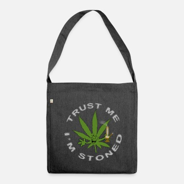 Toke Funny Stoned Weed Cannabis Marijuana Leaf - Shoulder Bag made from recycled material
