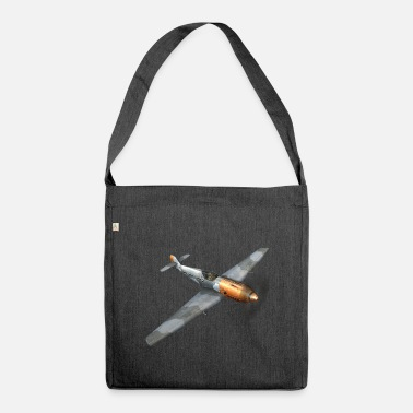 Ww2 Airplane air combat propeller plane WW2 - Shoulder Bag recycled