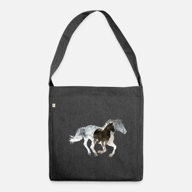 Gallop Galloping horse - Shoulder Bag made from recycled material