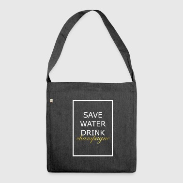 Cool saying - Shoulder Bag made from recycled material