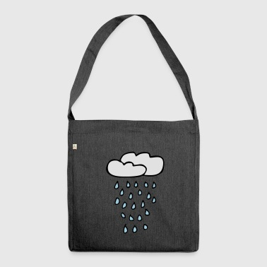 Cloud of rain - Shoulder Bag made from recycled material
