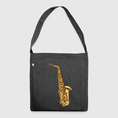 Saxophone saxophone - Shoulder Bag made from recycled material