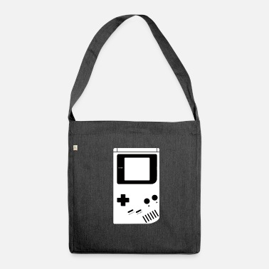 Konsole Game Konsole Retro Logo - Schultertasche aus Recycling-Material