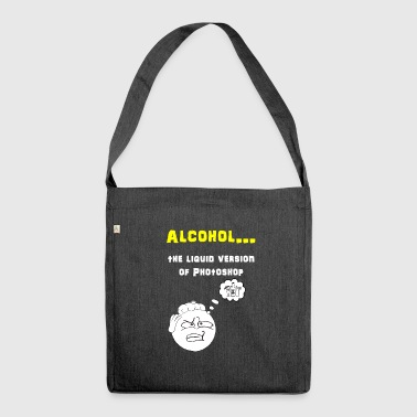 Alcohol Photoshop - Shoulder Bag made from recycled material