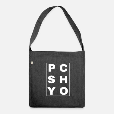 Psychobilly Psychobilly Psycho Lettering - Shoulder Bag made from recycled material