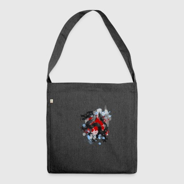 Orienteering Oriental Dragon - Shoulder Bag made from recycled material