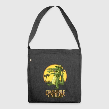 Crocodile undead - Shoulder Bag made from recycled material