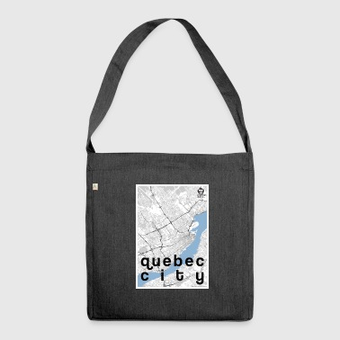 Quebec City Hipster City Map Black White - Schoudertas van gerecycled materiaal