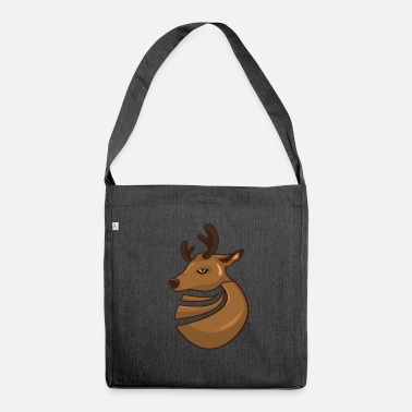 Deer deer head - Shoulder Bag made from recycled material
