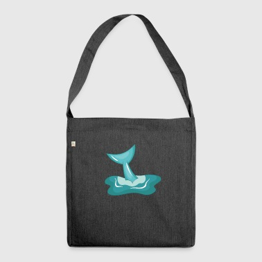 Delfin Flosse - Schultertasche aus Recycling-Material