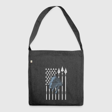 Native American Native American flag - Shoulder Bag made from recycled material
