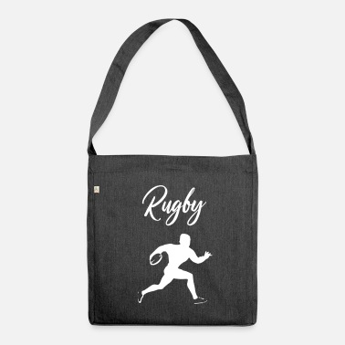 Rugby rugby tackle scrum ruck penalty rough Geschenk - Schultertasche aus Recycling-Material