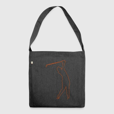 Golfer, vector - Shoulder Bag made from recycled material