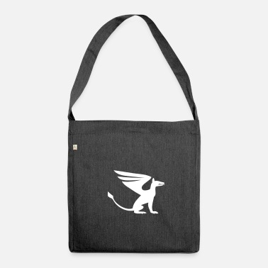 Bewinged Dog wings - Shoulder Bag recycled