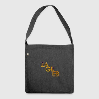 Zagreb lettering - Shoulder Bag made from recycled material