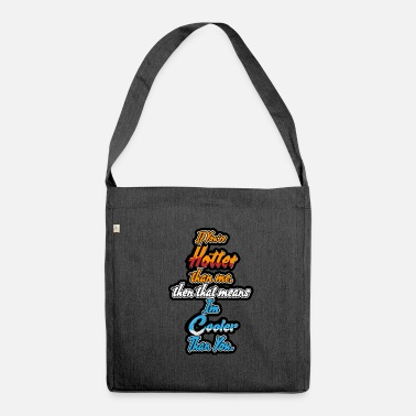 Funny Quotes funny quote - Shoulder Bag made from recycled material