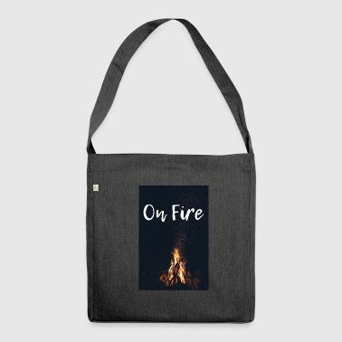 On fire - Shoulder Bag made from recycled material