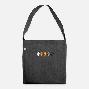 Line Dancing Line Dancing Cat - Shoulder Bag made from recycled material