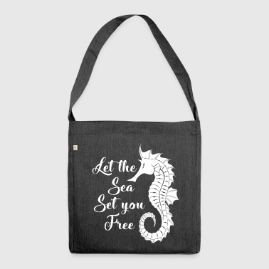 Let the sea set you free.Nautical. Seaside Gifts. - Shoulder Bag made from recycled material
