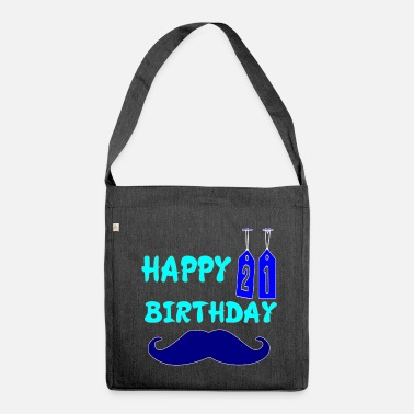 21st Birthday 21st birthday - Shoulder Bag made from recycled material