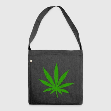 Marijuana Leaf - Shoulder Bag made from recycled material